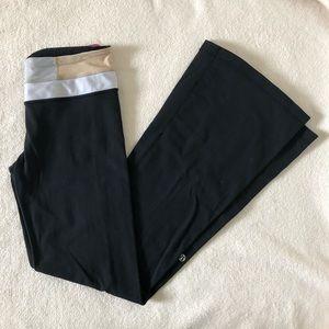 Lululemon Black Bootcut Groove Pants